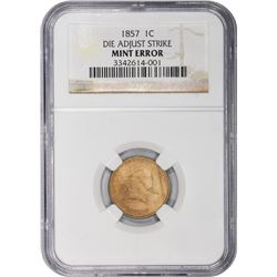 1857 Flying Eagle. Die Adjustment Strike. Mint Error. NGC. Choice AU
