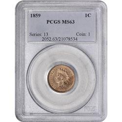1859 MS-63 PCGS.