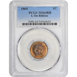 1864-L MS-64 RB PCGS.