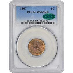 1867 MS-65 RB PCGS. CAC.
