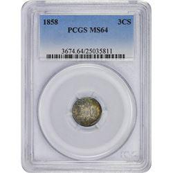 1858 MS-64 PCGS