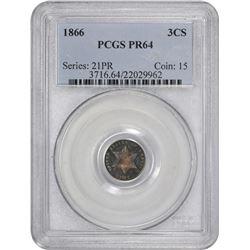 1866 Proof-64 PCGS.