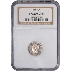 1883 Proof-66 Cameo NGC.