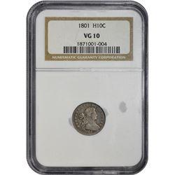 1801 LM-2. Rarity-4. VG-10 NGC