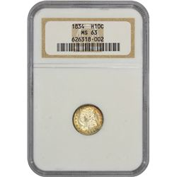 1834 LM-2. Rarity-1. MS-63 NGC.
