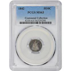 1842 MS-63 PCGS.