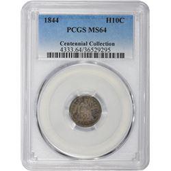 1844 MS-64 PCGS.