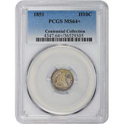 1851 MS-64 + PCGS.