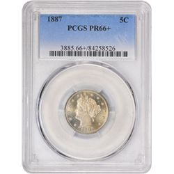 1887 Proof-66 + PCGS.