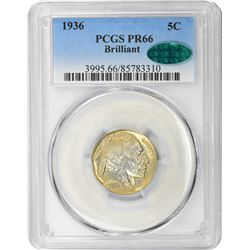 1936 Brilliant Finish. Proof-66 PCGS. CAC.