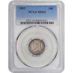 1832 LM-4. Rarity-3. MS-63 PCGS.