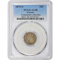 1873-S Arrows. AU-58 PCGS