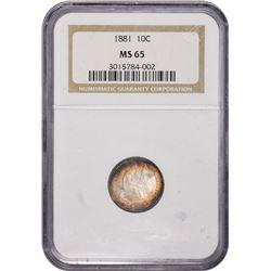 1881 MS-65 NGC. 1881 MS-65 NGC.