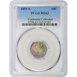 1891-S MS-63 PCGS.
