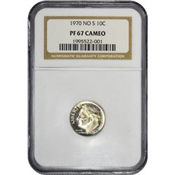1970 No S. Proof-67 Cameo NGC