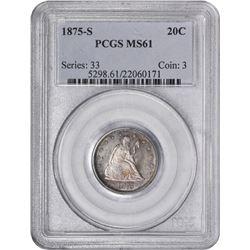 1875-S MS-61 PCGS.