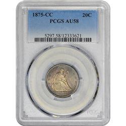 20173     1875-CC AU-58 PCGS.