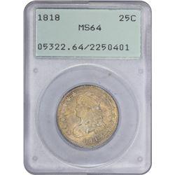 1818 B-2. Wide Date. Rarity-1. MS-64 PCGS. OGH.