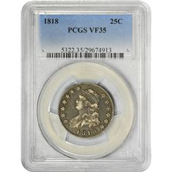1818 B-2. Wide Date. Rarity-1. VF-35 PCGS