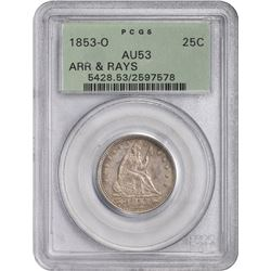 1853-O Arrows & Rays. AU-53 PCGS. OGH.
