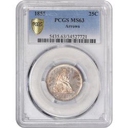 1855 Arrows. MS-63 PCGS