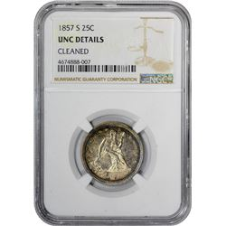 1857-S Uncirculated Details – Cleaned – NGC
