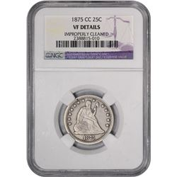 1875-CC VF Details -- Improperly Cleaned. NGC.