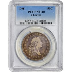 1795 Flowing Hair. O-102. Two Leaves. Rarity-5. VG-10 PCGS