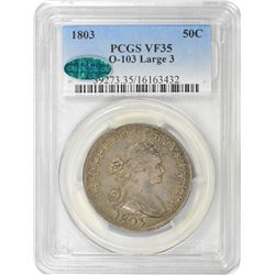1803 O-103. Large 3. Rarity-3. VF-35 PCGS.