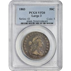 1803 O-103 Large 3. Rarity-3. VF-20 PCGS