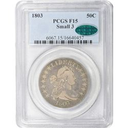 1803 O-104. Small 3. Rarity-3. Fine-15 PCGS. CAC.