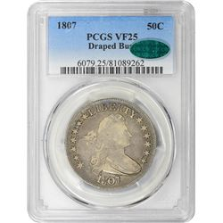 1807 Draped Bust. O-105. Rarity-2. VF-25 PCGS. CAC.
