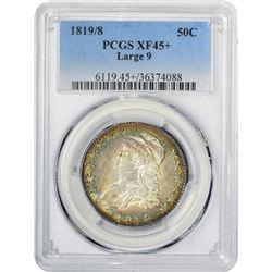 1819/8 O-104. Large 9. Rarity-1. EF-45 + PCGS