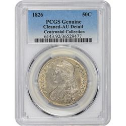1826 O-118a. Rarity-1. Genuine – Cleaned – AU Details PCGS.