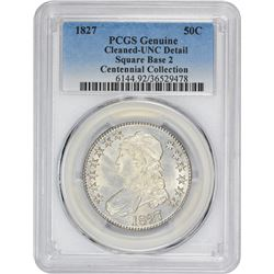 1827 O-105. Rarity-3. Genuine – Cleaned – Uncirculated Details PCGS.