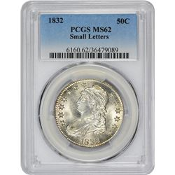 1832 O-103. Small Letters. Rarity-1. MS-62 PCGS.