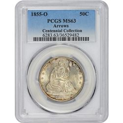 1855-O Arrows. MS-63 PCGS.