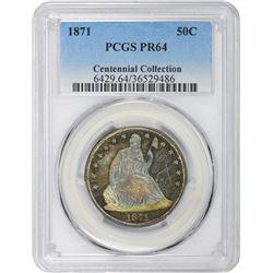 1871 Proof-64 PCGS.