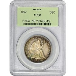 1882 WB-102. Errant 88 in Dentils. Rarity-3. AU-50 PCGS. OGH.