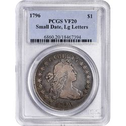 1795 Flowing Hair. Bolender-1, Bowers Borckardt-21. Head of '95, Two Leaves. Rarity-1. VF-20 PCGS.