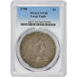 1798 Heraldic or Large Eagle. B-21, BB-107. VF-20 PCGS.
