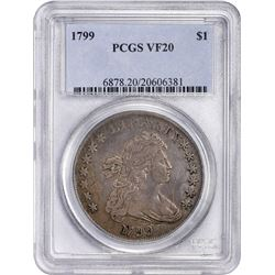1799 B-16, BB-158. Rarity-2. VF-20 PCGS