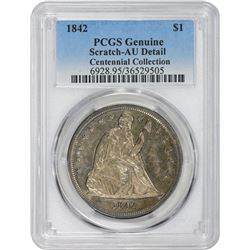 1842 Genuine – Scratch – AU Details PCGS.