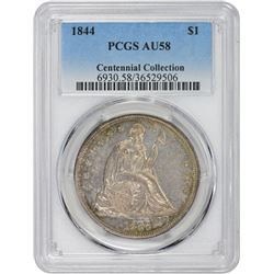 1844 AU-58 PCGS.