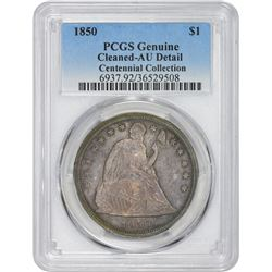 1850 Genuine – Cleaned – AU Details PCGS.