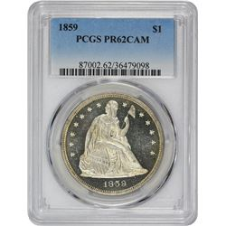 1859 Proof-62 CAM PCGS.