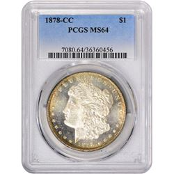 1878-CC VAM-2A. Die Chip at Nostril. Rarity-5. MS-64 PCGS.