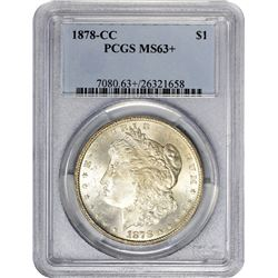 1878-CC Morgan. MS-63+ PCGS.