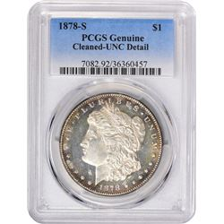 1878-S VAM-Uncertain. Genuine – Cleaned – Uncirculated Details PCGS.