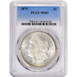 1879 VAM-1. Closed 9. Rarity-1. MS-61 PCGS.